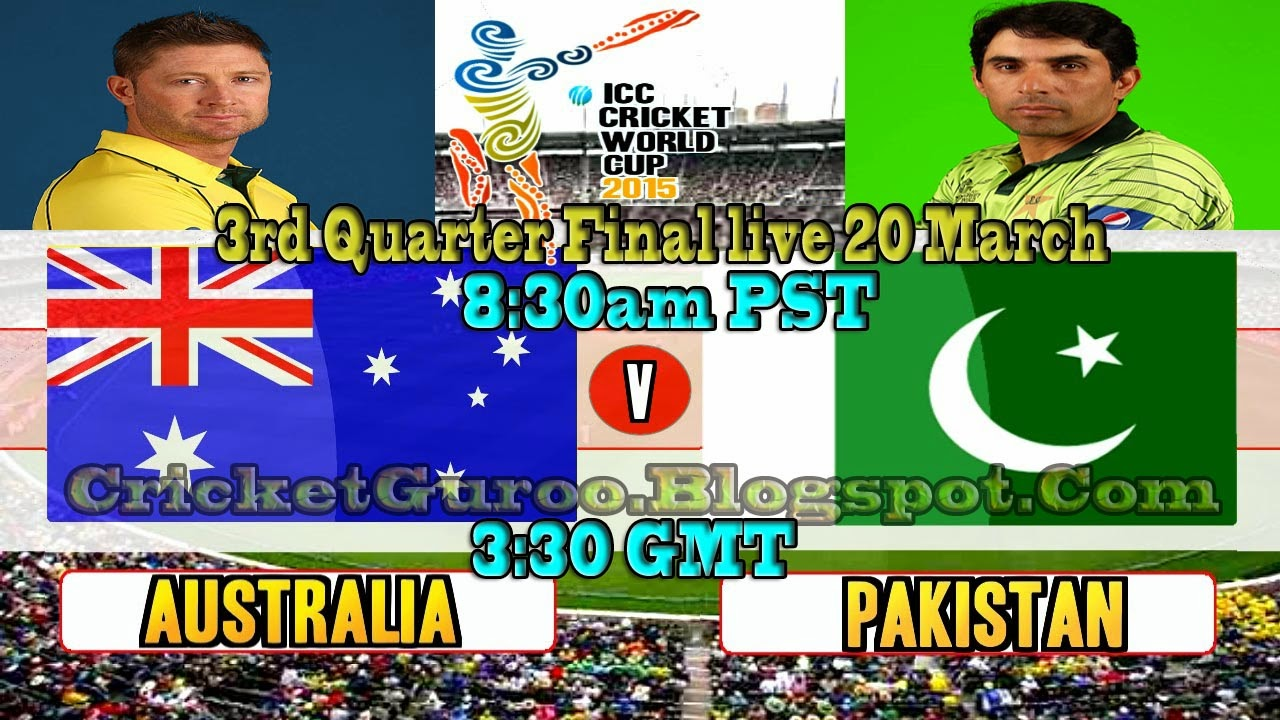 Pakistan vs Australia, 3rd Quarter Final