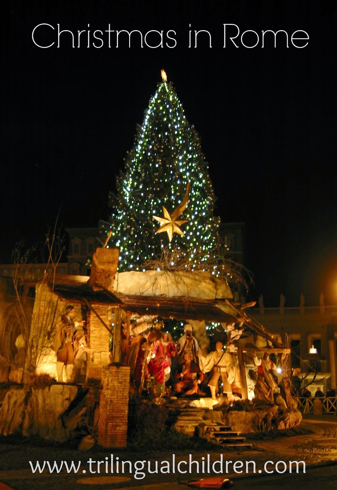 Presepio - nativity scene Rome Italy