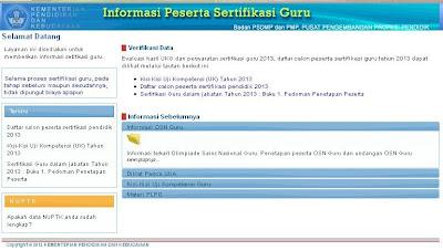 PENGUMUMAN DAFTAR CALON PESERTA SERTIFIKASI PENDIDIK TAHUN 2013