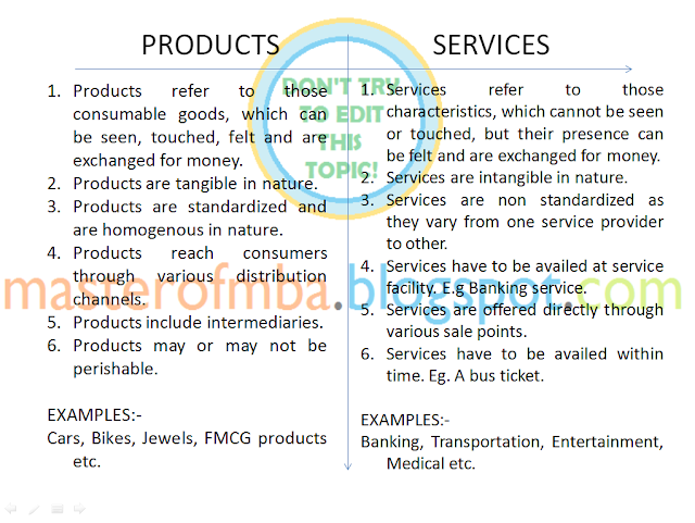 differences between product and services Take a look at 10 of the biggest differences between managing a production versus an after-sale service supply chain  professional services resources case .