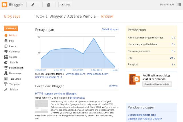 cara menampilkan iklan di blog pertama kali diterima google adsense terbaru
