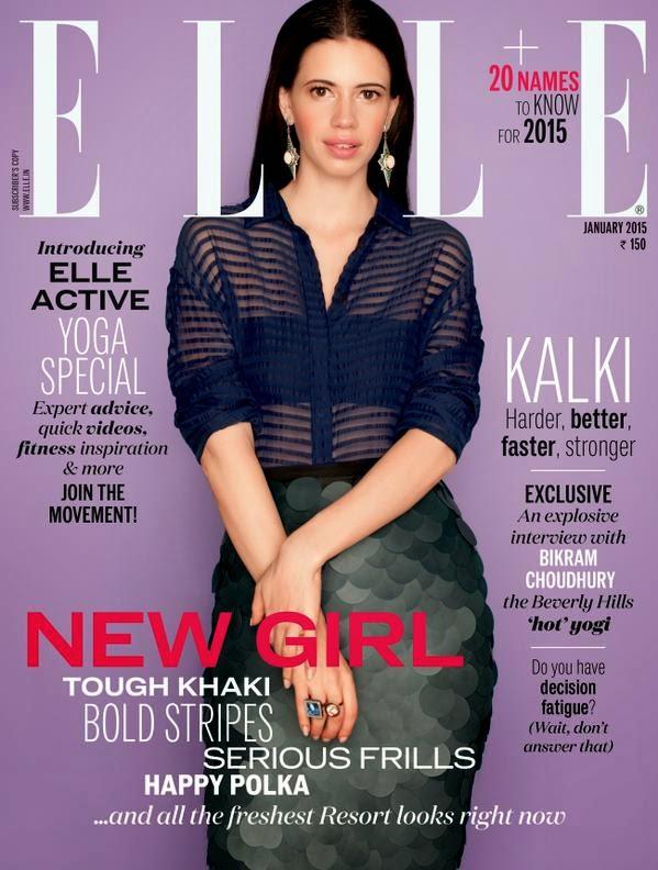 Kalki Koechlin on The Cover of EllE Magazine India January 2015 Issue