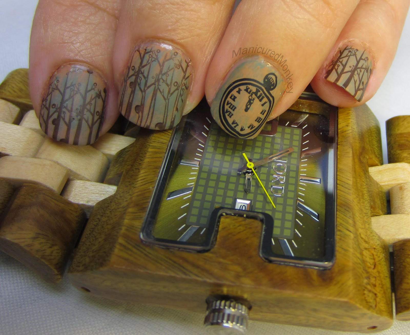 The Manicured Monkey Jord Wood Watch Review And Themed Mani
