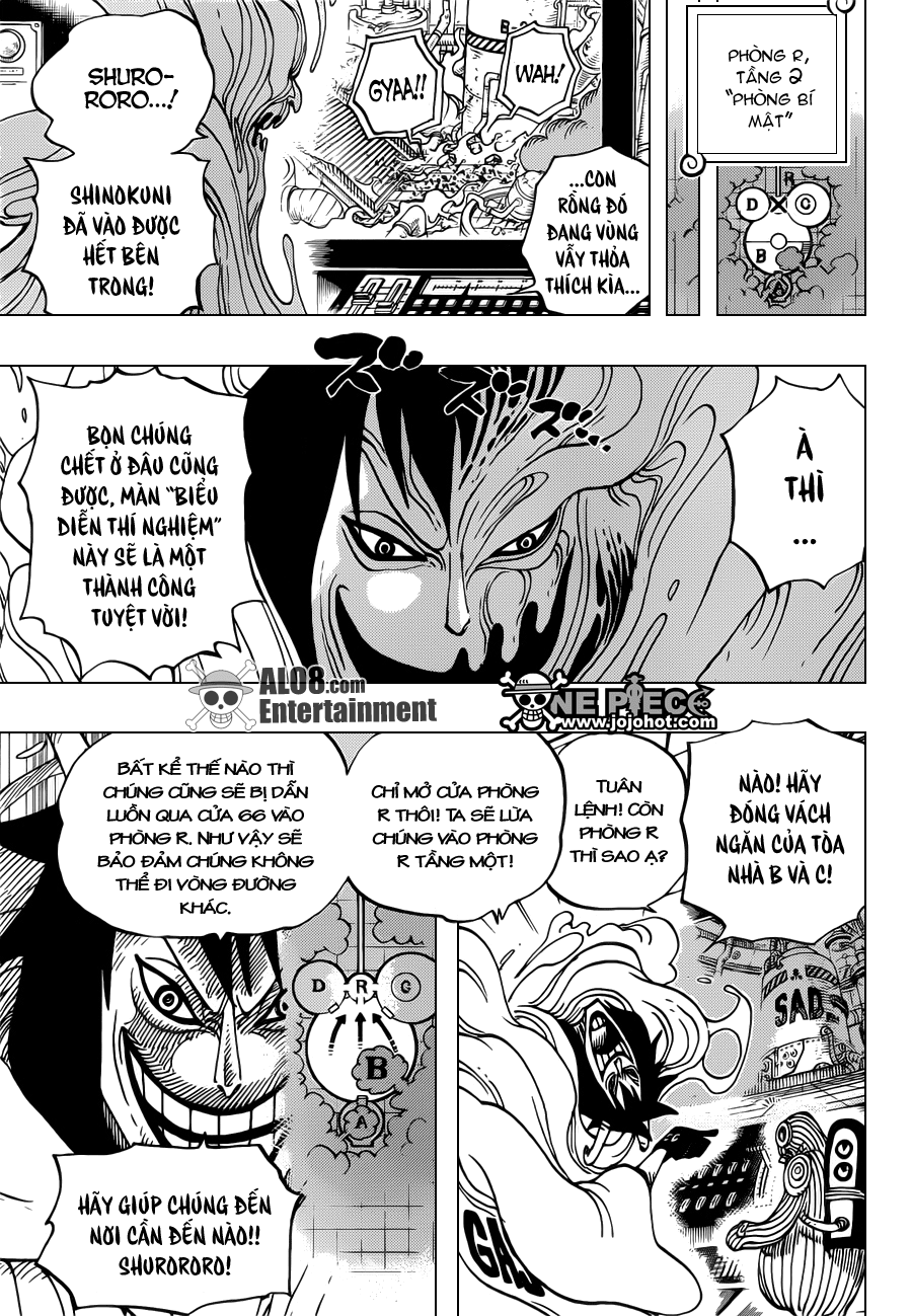 """One Piece Chapter 684: """"Dừng lại, Vegapunk!"""" 011"""