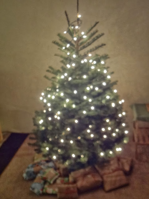Christmas tree with white lights