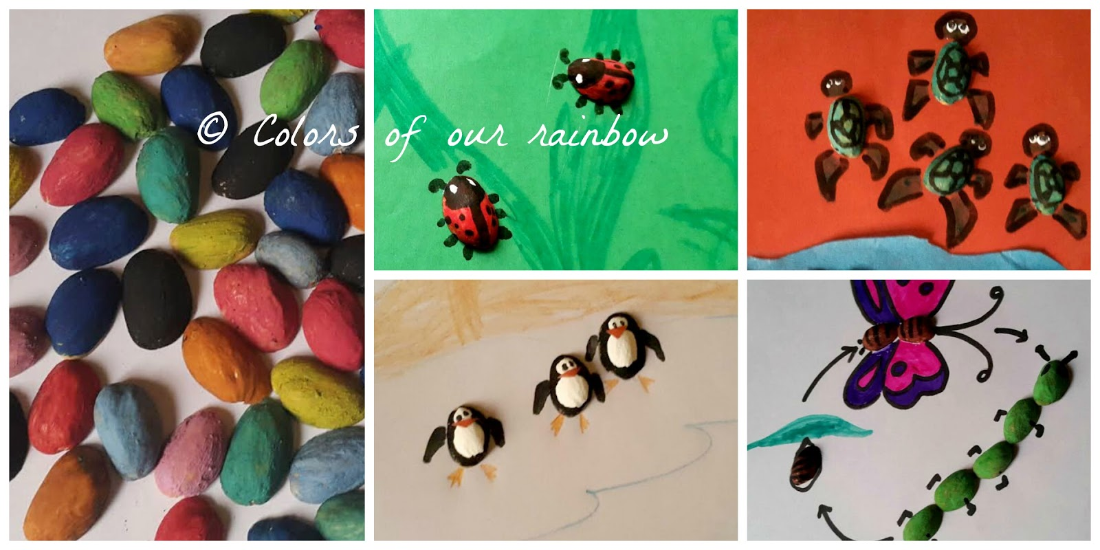 pistachio shell craft- mini animals- colorsofourrainbow.blogspot.ae