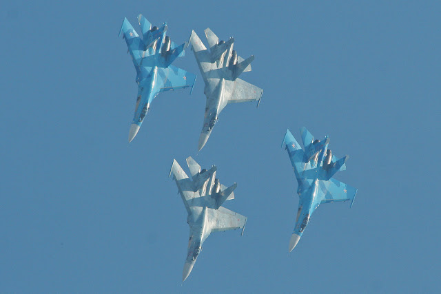 Su-27 Flanker formation
