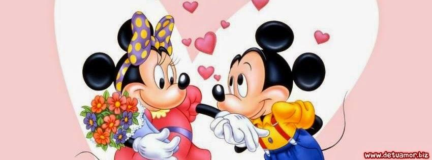 Portada de amor de mickey mouse y minnie para Facebook - Imágenes ...