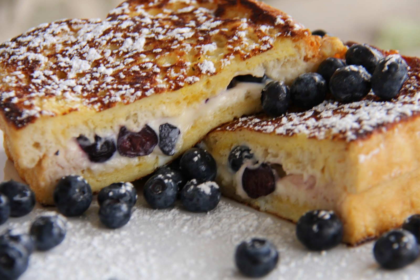A Bountiful Kitchen Blueberry Cream Cheese Stuffed French