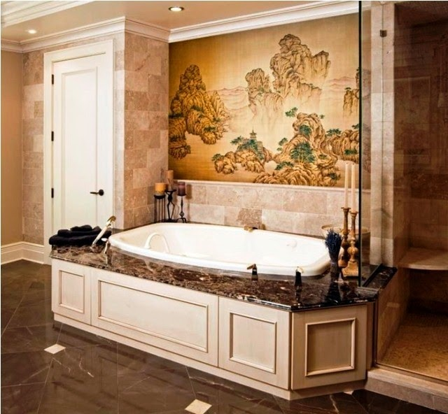 japanese bathroom wall painting ideas