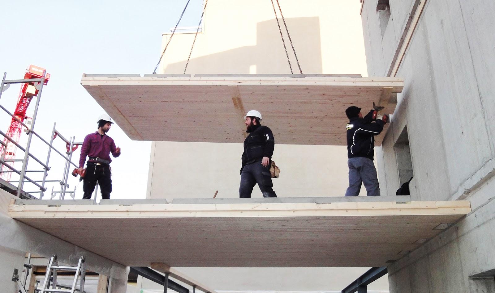 brettstapel massivholz deckenelemente wand und dach