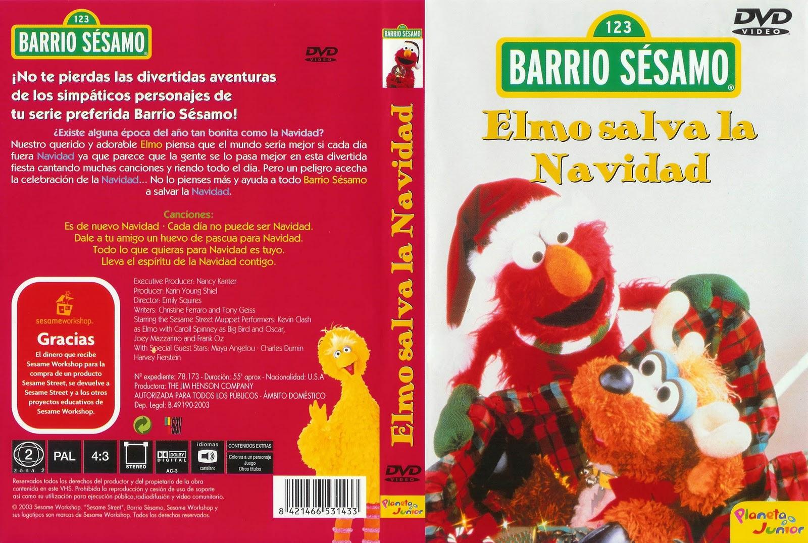 Colorear Pintar: Elmo Salva La Navidad Caratula