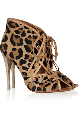 azzedine alaia leopard print shoes