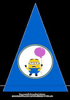 minion con globo para cumpleaños