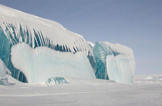 tsunami congelado en la antartida antartica