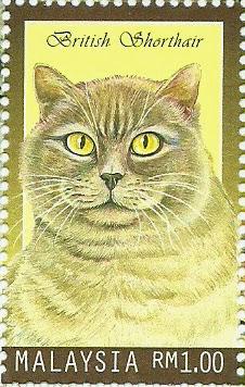 Dunia Setem Cats In Malaysia Stamp