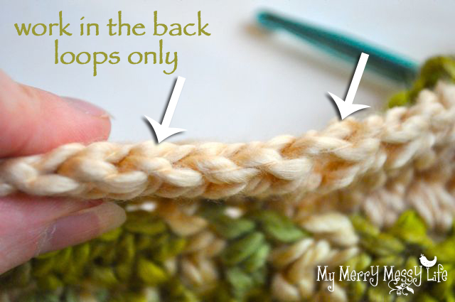 Ribbed Baby Cocoon Crochet Pattern - Step 2