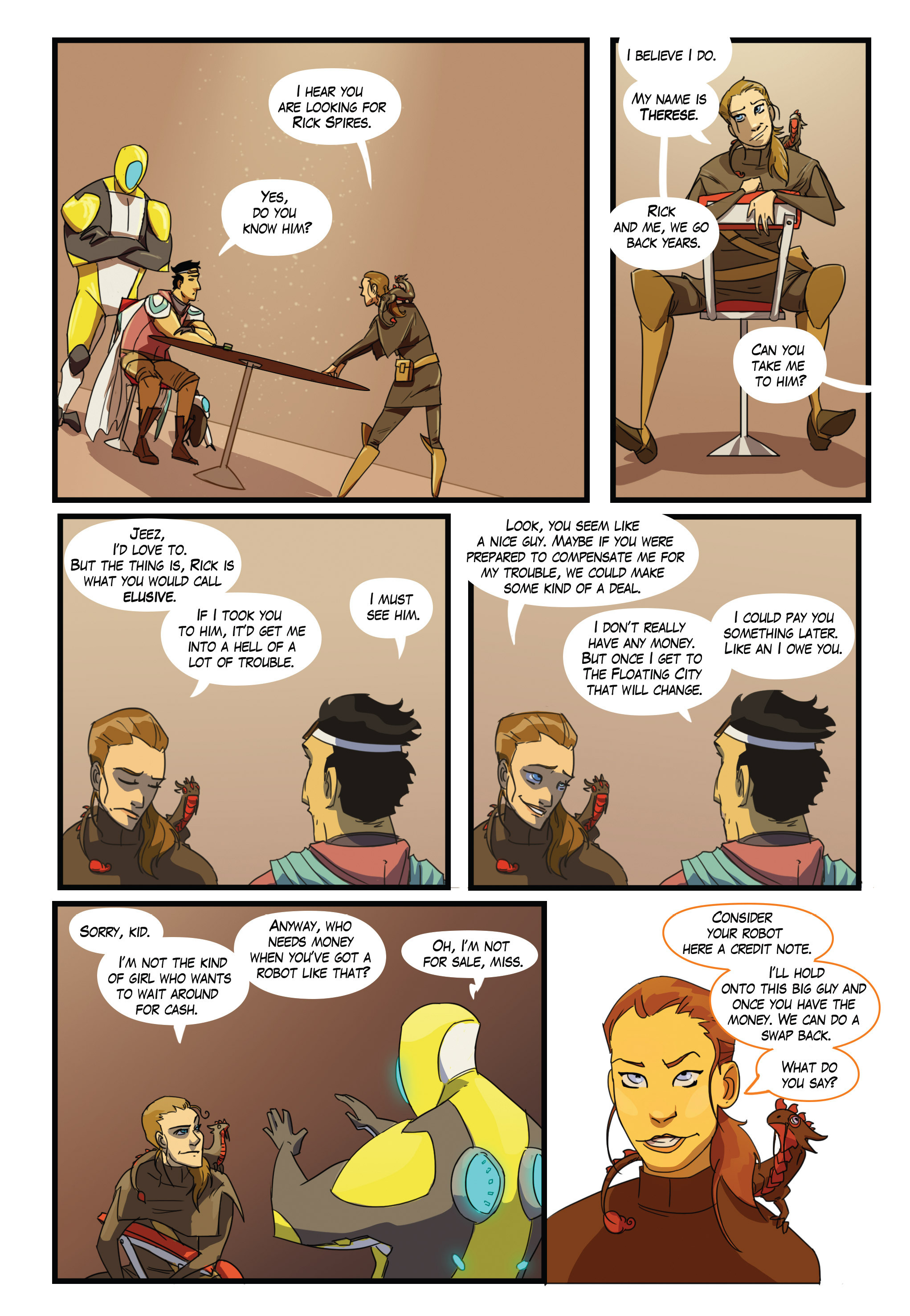 Read online Scavenger comic -  Issue #2 - 14