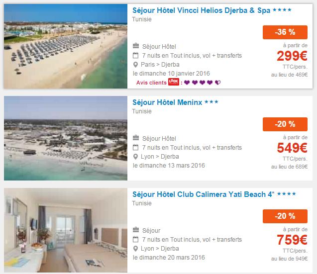 s jour tout compris djerba frais de dossier 0 euros tunisie voyage et loisir. Black Bedroom Furniture Sets. Home Design Ideas