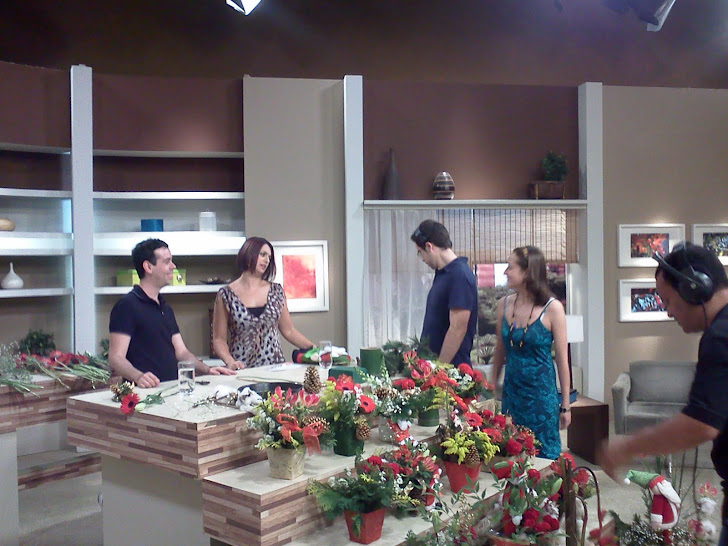 "TV Gazeta Programa ""Mulheres."" Ikebana de Natal ."