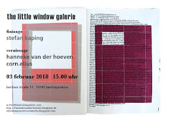 AUSSTELLUNG  THE LITTLE WINDOW GALERIE