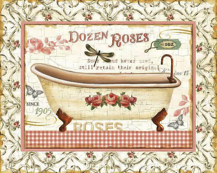 Laminas Baño Vintage:bikari: Banyo Dekupaj Desenleri