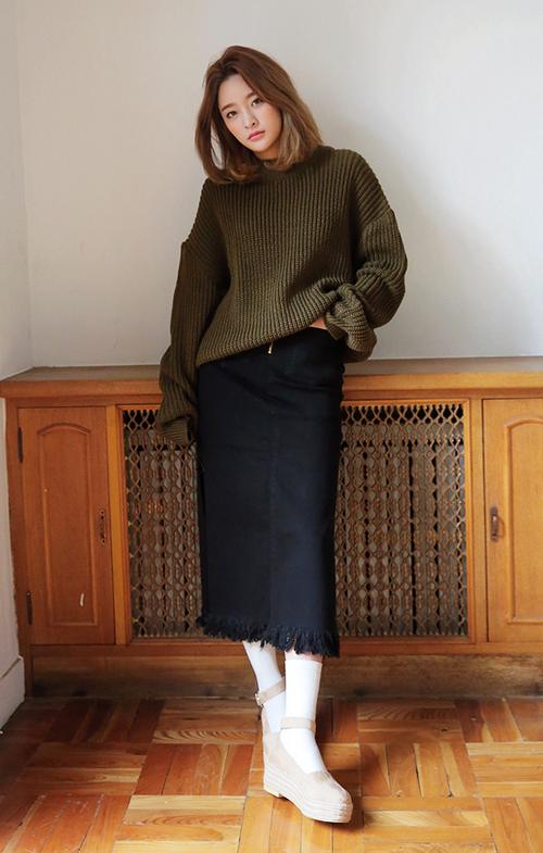 Slouchy Drop Shoulder Sweater