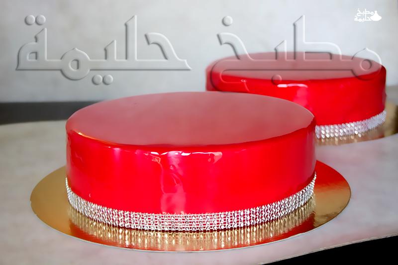 G teaux cuisine de halima for Glacage miroir fraise