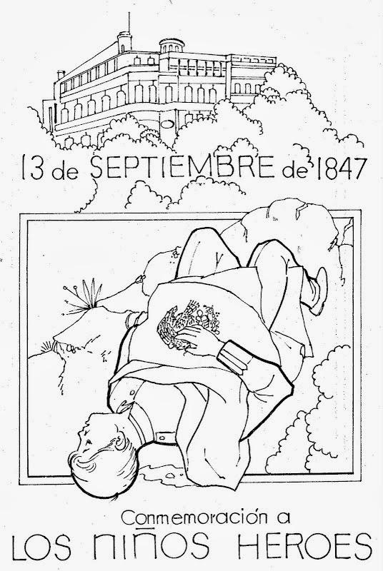 manosqueeducan: dibujo para colorear de niños heroes