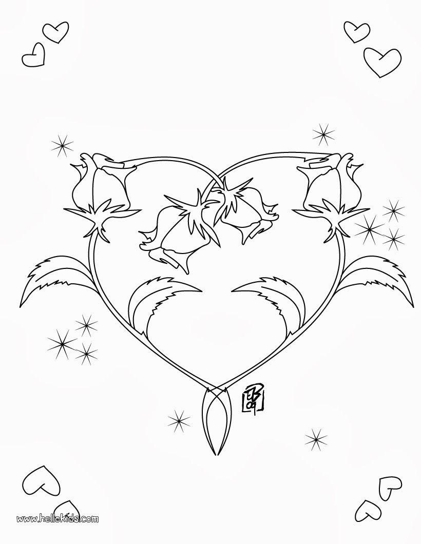 heart peace sign coloring pages - photo#22