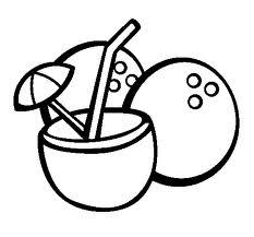 desenho de bebida de coco