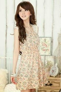 Seperti inilah Model Baju Korea Motif Floral