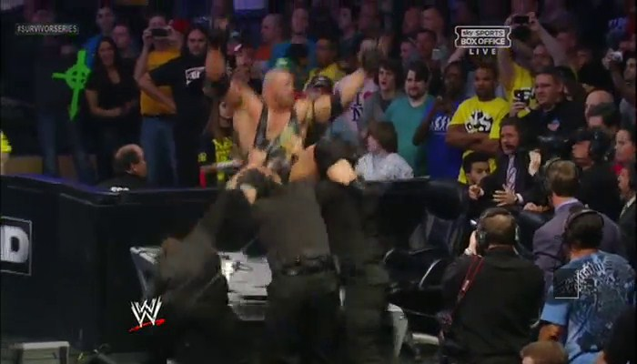 Ryback thrown on the table