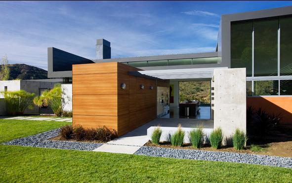 Fachadas casas modernas fotos de fachadas de casas de una for Casas modernas de una planta minimalistas