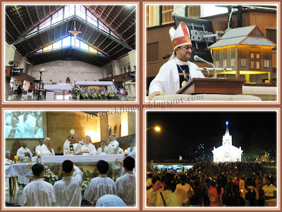 Eucharistic Mass and procession at St Anne's Church, Bukit Mertajam