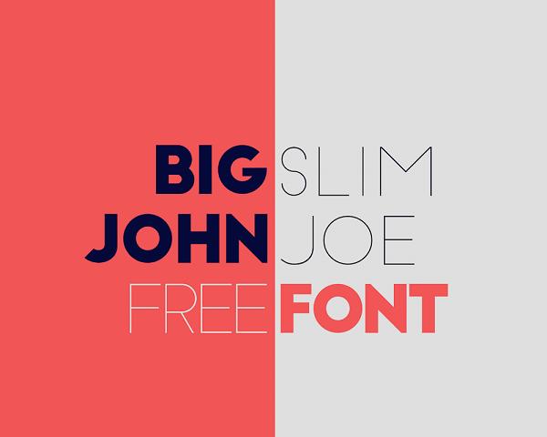 Download Font Terbaru dan Terbaik Januari 2016 - Big John / Slim Joe Free Font
