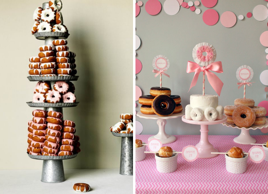 Wedding cake alternative ideas, wedding donuts