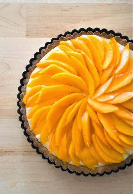 Mango Lilikoi White Chocolate Tart