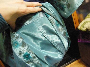Burda Silk Kimono Seam Details