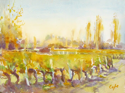 golden vines - watercolour