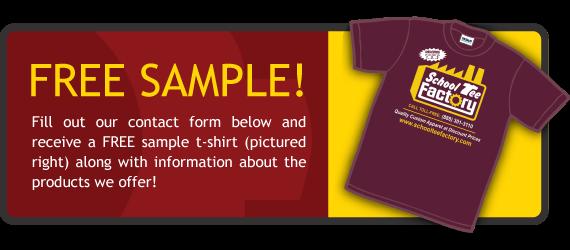 Free Sample of School T-shirt