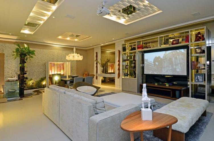 Iluminacao Para Sala De Estar E Tv ~ 30 Salas de Jantar e Estar Integradas + Dicas e Tendências!  Decor