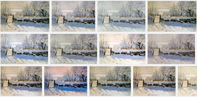 Tableau la Pie de Claude Monet