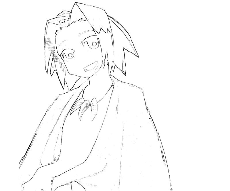 shaman-king-yoh-asakura-happy-coloring-pages