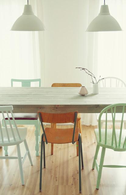 Smalt kjøkkenbord