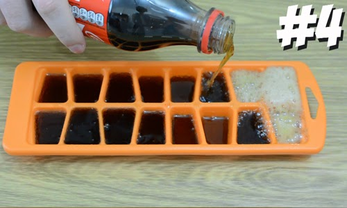 Make ice cubes from the drink itself