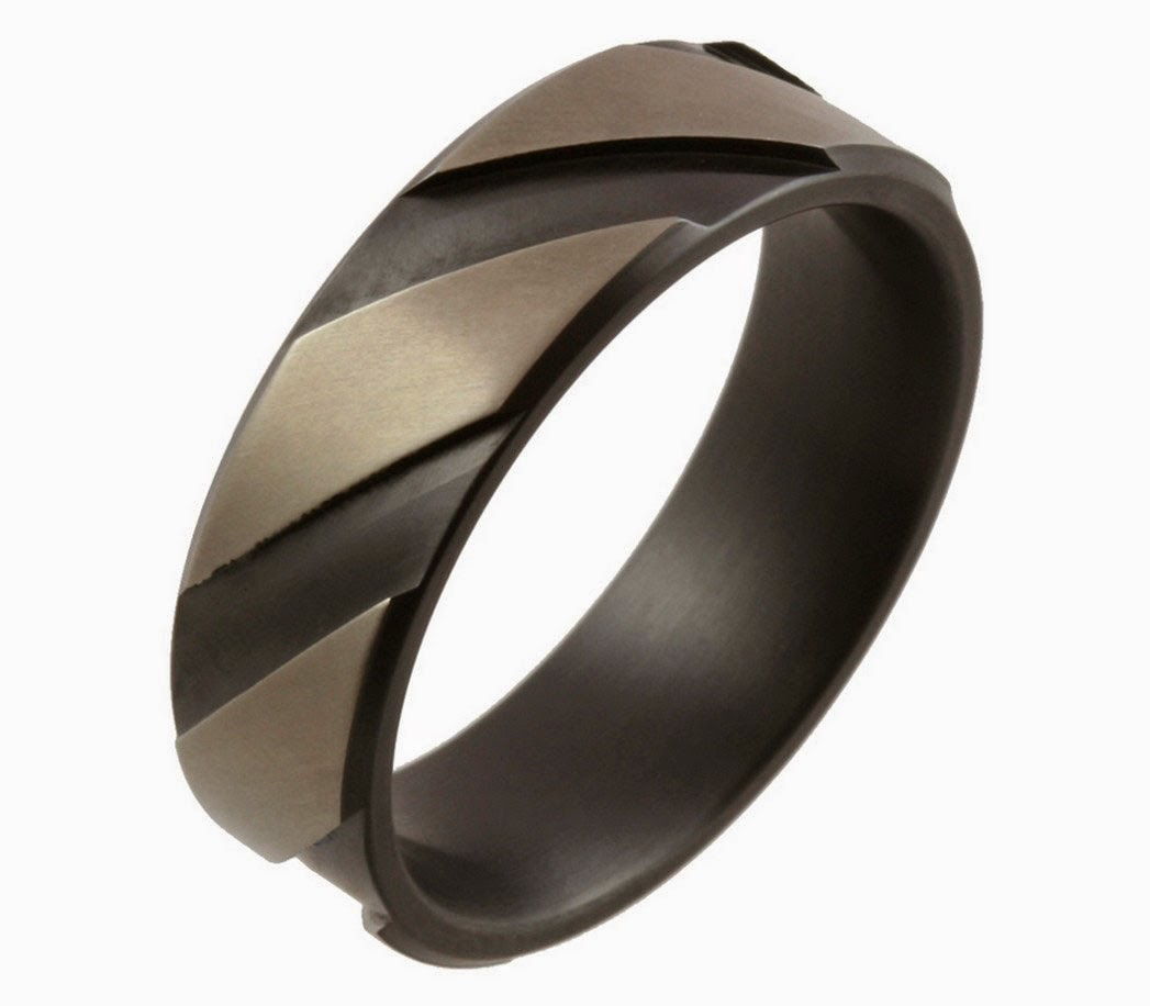 Cheap Affordable Black Wedding Rings for Men