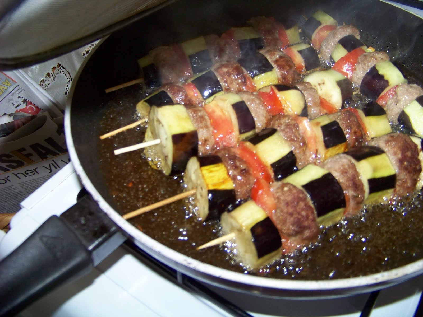Patlıcanlı Şiş Köfte