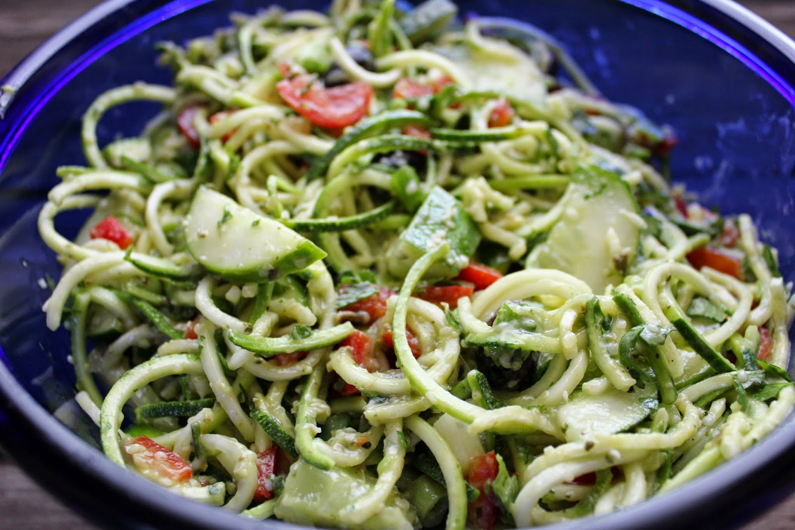 Outer Aisle Creations: Zucchini Pasta Salad with Italian ...