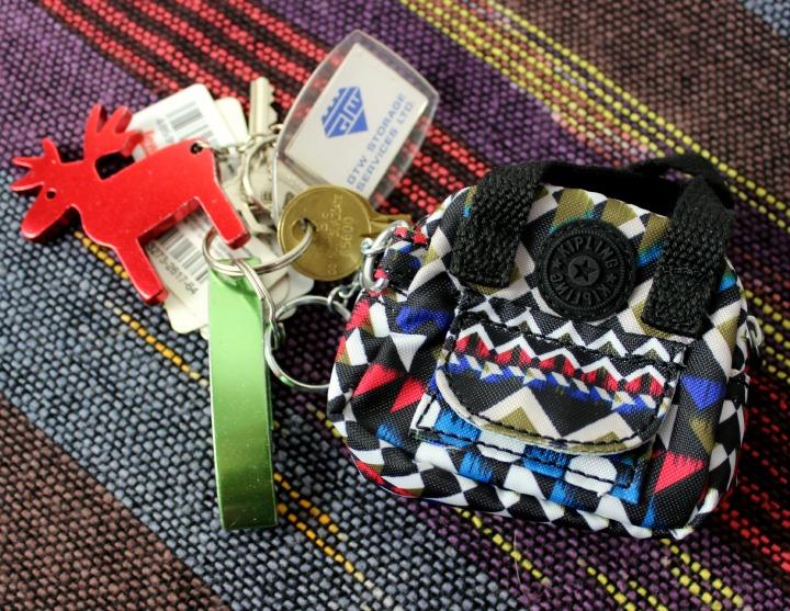 Kipling USA Defea Printed Key Fob in Nordic Journey